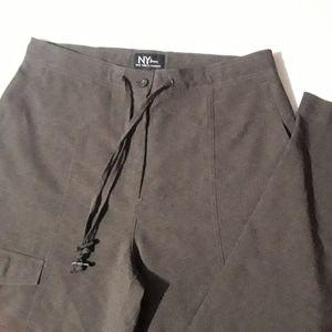 NY Jeans Size 10 Gray Drawstring Cargo Pants